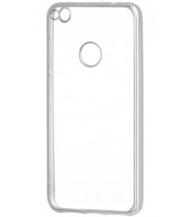 """Sidabrinės spalvos silikoninis dėklas Huawei P8/P9 Lite 2017 telefonui """"Glossy"""""""