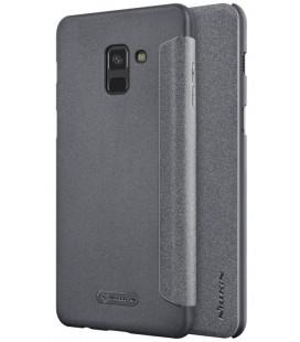 """Atverčiamas juodas dėklas Samsung Galaxy A8 2018 telefonui """"Nillkin Sparkle"""""""