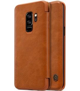 """Odinis rudas atverčiamas dėklas Samsung Galaxy S9 Plus telefonui """"Nillkin Qin"""""""