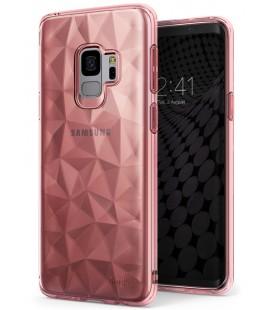 """Rausvai auksinės spalvos dėklas Samsung Galaxy S9 telefonui """"Ringke Prism Air"""""""