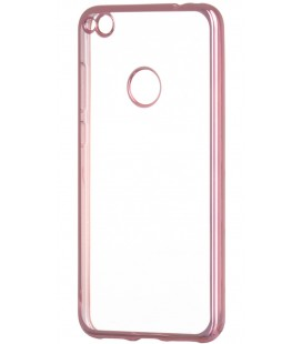 """Rausvai auksinės spalvos silikoninis dėklas Huawei P8/P9 Lite 2017 telefonui """"Glossy"""""""
