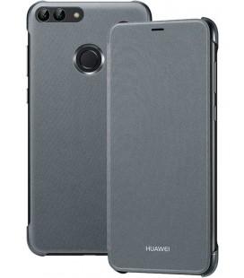 """Originalus juodas atverčiamas dėklas Huawei P Smart telefonui """"Flip Cover"""""""