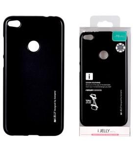"""Juodas silikoninis dėklas Huawei P8/P9 Lite 2017 telefonui """"Mercury iJelly Case Metal"""""""