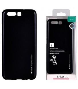 """Juodas silikoninis dėklas Huawei P10 telefonui """"Mercury iJelly Case Metal"""""""