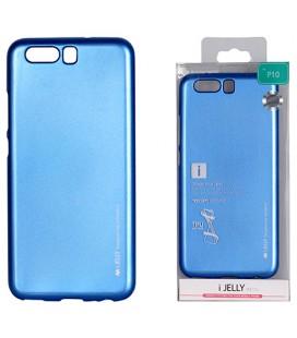"""Mėlynas silikoninis dėklas Huawei P10 telefonui """"Mercury iJelly Case Metal"""""""