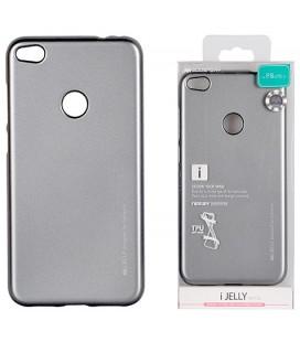 """Pilkas silikoninis dėklas Huawei P8/P9 Lite 2017 telefonui """"Mercury iJelly Case Metal"""""""