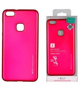 """Rožinis silikoninis dėklas Huawei P10 Lite telefonui """"Mercury iJelly Case Metal"""""""