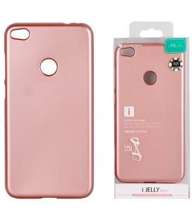 """Rausvai auksinės spalvos silikoninis dėklas Huawei P8/P9 Lite 2017 telefonui """"Mercury iJelly Case Metal"""""""