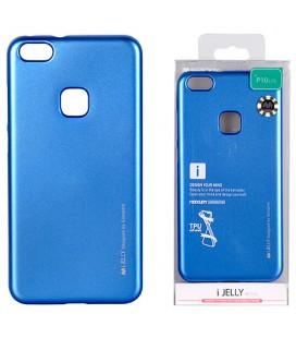 """Mėlynas silikoninis dėklas Huawei P10 Lite telefonui """"Mercury iJelly Case Metal"""""""
