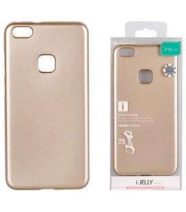 """Auksinės spalvos silikoninis dėklas Huawei P10 Lite telefonui """"Mercury iJelly Case Metal"""""""