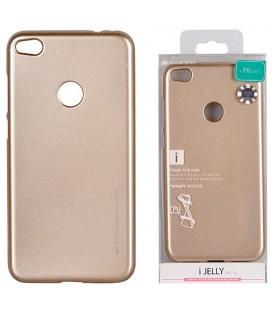 """Auksinės spalvos silikoninis dėklas Huawei P8/P9 Lite 2017 telefonui """"Mercury iJelly Case Metal"""""""