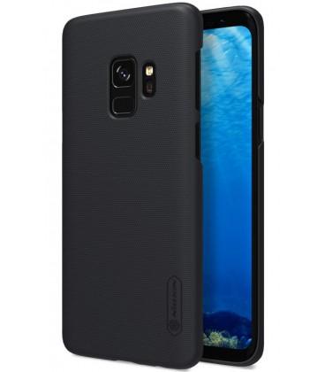 """Juodas plastikinis dėklas Samsung Galaxy S9 telefonui """"Nillkin Frosted Shield"""""""