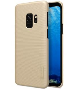 """Auksinės spalvos plastikinis dėklas Samsung Galaxy S9 telefonui """"Nillkin Frosted Shield"""""""