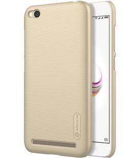"""Auksinės spalvos plastikinis dėklas Xiaomi Redmi 5A telefonui """"Nillkin Frosted Shield"""""""