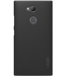 "Juodas plastikinis dėklas Sony Xperia L2 telefonui ""Nillkin Frosted Shield"""