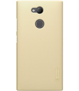 """Auksinės spalvos plastikinis dėklas Sony Xperia L2 telefonui """"Nillkin Frosted Shield"""""""