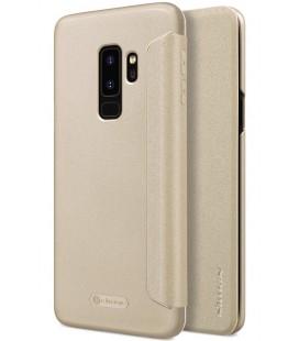 """Atverčiamas auksinės spalvos dėklas Samsung Galaxy S9 Plus telefonui """"Nillkin Sparkle"""""""