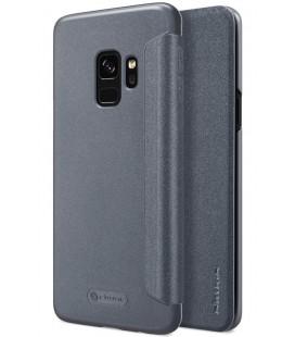"""Atverčiamas pilkas dėklas Samsung Galaxy S9 telefonui """"Nillkin Sparkle"""""""