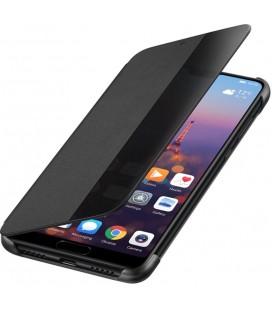"""Originalus juodas atverčiamas dėklas Huawei P20 telefonui """"Smart View Flip Cover"""""""