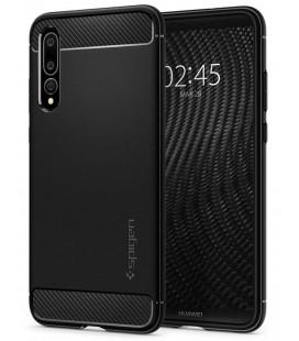 """Juodas dėklas Huawei P20 Pro telefonui """"Spigen Rugged Armor"""""""