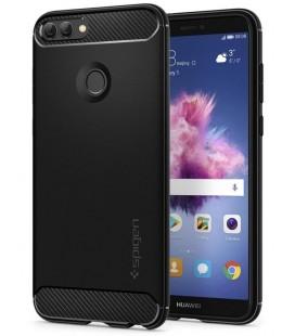 """Juodas dėklas Huawei P Smart telefonui """"Spigen Rugged Armor"""""""