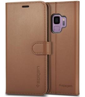 """Rudas atverčiamas dėklas Samsung Galaxy S9 telefonui """"Spigen Wallet S"""""""