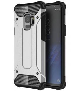 """Sidabrinės spalvos dėklas Samsung Galaxy S9 telefonui """"Hybrid Armor Case"""""""