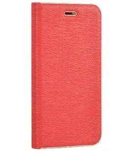 """Raudonas atverčiamas dėklas su rėmeliu Samsung Galaxy S9 Plus telefonui """"Book Vennus Z"""""""