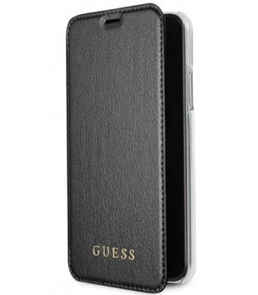 """Juodas atverčiamas dėklas Apple iPhone X telefonui """"Guess Iridescent"""""""