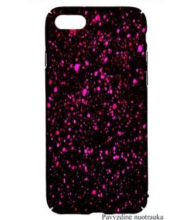 """Juodas - rožinis dėklas Samsung Galaxy A8 2018 telefonui """"Splash Soft Case"""""""