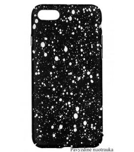"""Juodas - baltas dėklas Samsung Galaxy A8 2018 telefonui """"Splash Soft Case"""""""