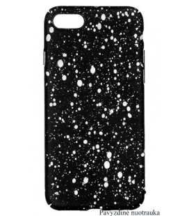 """Juodas - baltas dėklas Huawei Mate 10 Lite telefonui """"Splash Soft Case"""""""