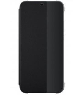"""Originalus juodas atverčiamas dėklas Huawei P20 Lite telefonui """"Smart View Flip Cover"""""""