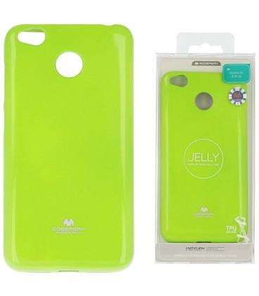 """Žalias silikoninis dėklas Xiaomi Redmi 4X telefonui """"Mercury Goospery Pearl Jelly Case"""""""