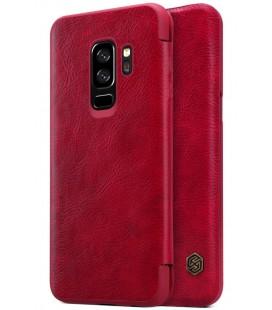 """Odinis raudonas atverčiamas dėklas Samsung Galaxy S9 Plus telefonui """"Nillkin Qin"""""""