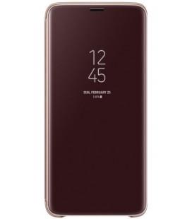 """Originalus auksinės spalvos dėklas """"Clear View Standing Cover"""" Samsung Galaxy S9 Plus telefonui """"EF-ZG965CFE"""""""