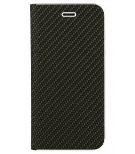 """Juodas atverčiamas Carbon dėklas Huawei P Smart telefonui """"Book Vennus Carbon Z"""""""