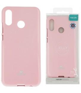 """Šviesiai rožinis silikoninis dėklas Huawei P20 Lite telefonui """"Mercury Goospery Pearl Jelly Case"""""""