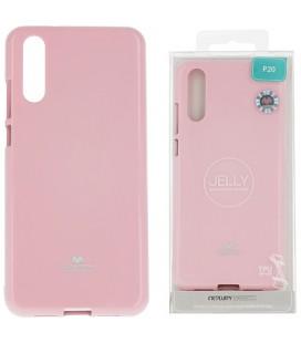 """Šviesiai rožinis silikoninis dėklas Huawei P20 telefonui """"Mercury Goospery Pearl Jelly Case"""""""