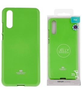 """Žalias silikoninis dėklas Huawei P20 telefonui """"Mercury Goospery Pearl Jelly Case"""""""