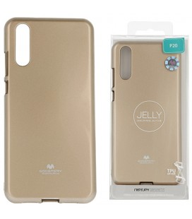 """Auksinės spalvos silikoninis dėklas Huawei P20 telefonui """"Mercury Goospery Pearl Jelly Case"""""""