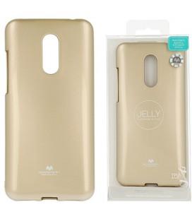 """Auksinės spalvos silikoninis dėklas Xiaomi Redmi 5 Plus telefonui """"Mercury Goospery Pearl Jelly Case"""""""