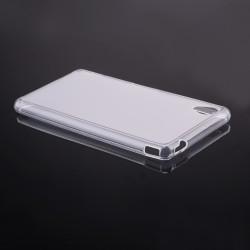 Skaidrus silikoninis dėklas Sony Xperia M4 Aqua telefonui