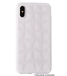 "Baltas dėklas Apple iPhone X/XS telefonui ""Diamond Case"""