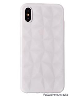 """Baltas dėklas Samsung Galaxy A8 2018 telefonui """"Diamond Case"""""""