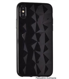 """Juodas dėklas Samsung Galaxy A8 2018 telefonui """"Diamond Case"""""""