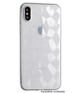 """Skaidrus dėklas Huawei P Smart telefonui """"Diamond Case"""""""