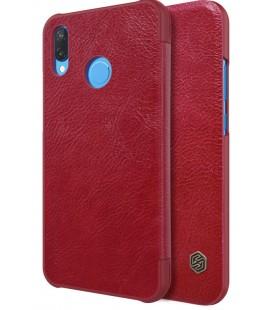"""Odinis raudonas atverčiamas dėklas Huawei P20 Lite telefonui """"Nillkin Qin"""""""