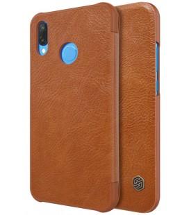 """Odinis rudas atverčiamas dėklas Huawei P20 Lite telefonui """"Nillkin Qin"""""""