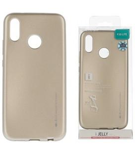 """Auksinės spalvos silikoninis dėklas Huawei P20 Lite telefonui """"Mercury iJelly Case Metal"""""""